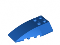 LEGO alkatrész - Blue Wedge 6 x 4 Triple Curved