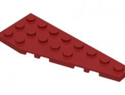 LEGO alkatrész - Dark red wedge plate 3x8 right