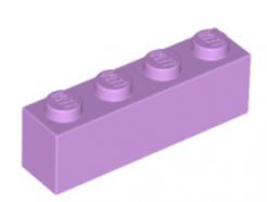 LEGO alkatrész - Medium lavender brick 1x4