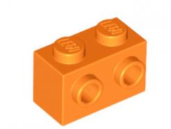 LEGO alkatrész - Orange Brick, Modified 1 x 2 with Studs on 1 Side