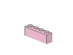 LEGO alkatrész - Pink brick 1x4