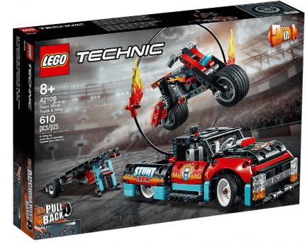 Lego - Technic 42106 - Kaszkadőr teherautó és motor